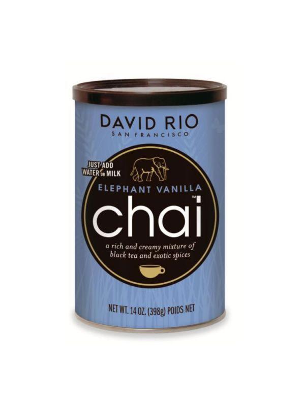 """David Rio Elephant Vanilla Chai - dóza 398 g + Modrý """"sloní"""" hrneček - 2"""