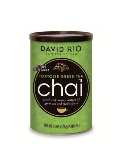 David Rio Tortoise Green Tea Chai - dóza 398 g + bateriový napěňovač mléka jako DÁREK - 2