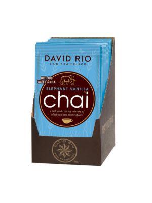 David Rio Elephant Vanilla Chai - sáčky 12x28g + bateriový napěňovač mléka jako DÁREK - 2