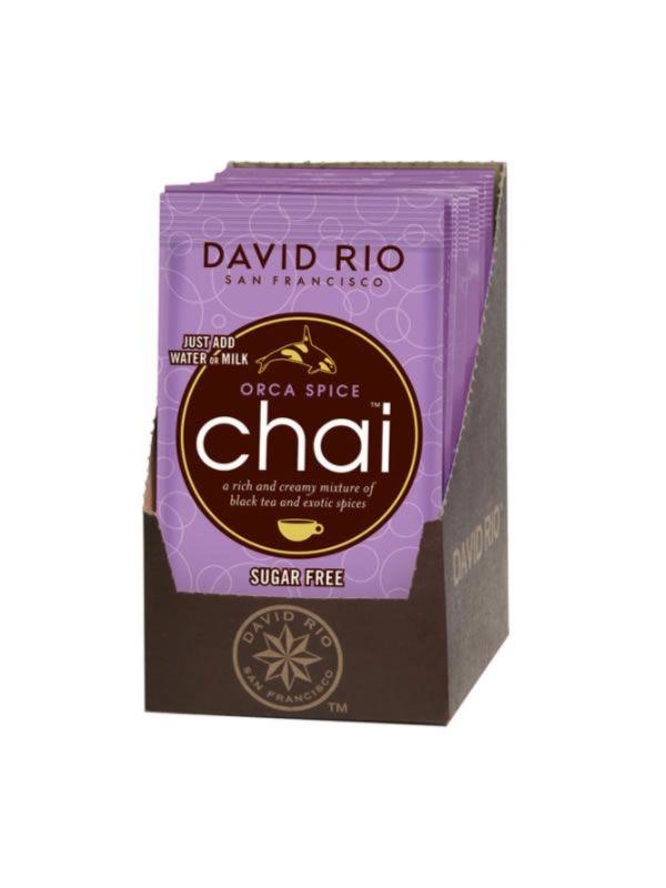 David Rio Orca Spice Sugarfree Chai - sáčky display 12x28g + bateriový napěňovač mléka jako DÁREK - 2