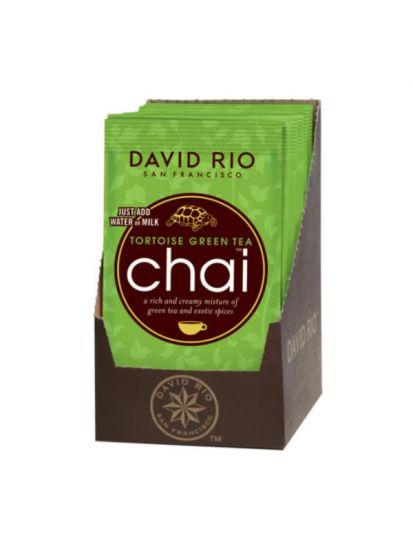 David Rio Tortoise Green Chai- sáčky display 12x28g + bateriový napěňovač mléka jako DÁREK - 2