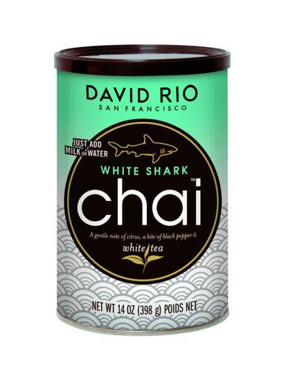 David Rio White Shark Chai - dóza 398 g + bateriový napěňovač mléka jako DÁREK - 2