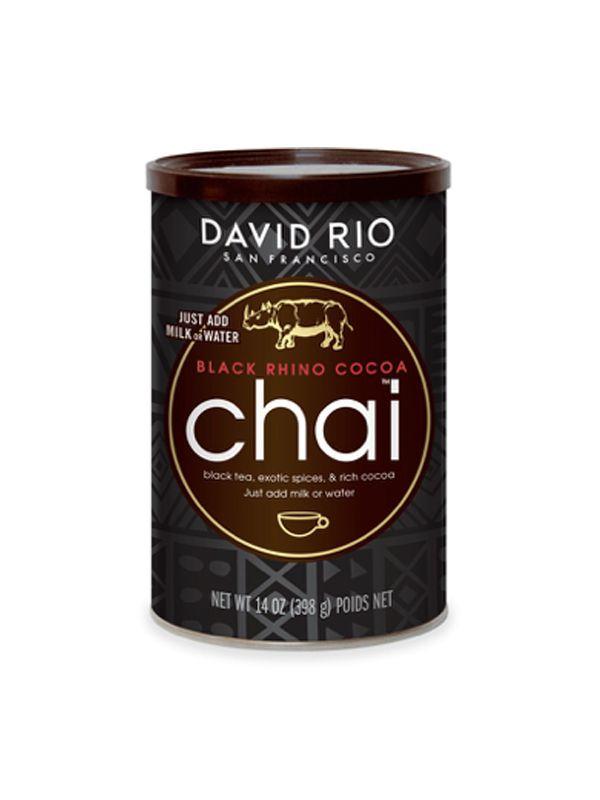 David Rio Black Rhino Cocoa Chai - dóza 398 g + bateriový napěňovač mléka jako DÁREK - 2