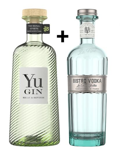 AKCE: YuGin 43% 0,7 L + Bistro Vodka 40% 0,7 L SET - 1