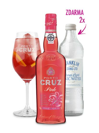 Porto Cruz Pink 19% 0,75 L + 2 ks Franklin & Sons Natural Light Tonic Water 0,50 L ZDARMA - 1