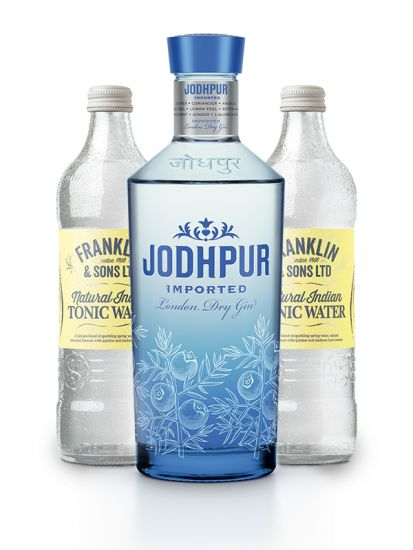 Jodhpur Gin 43 % 0,7 L + 2 ks Franklin & Sons Natural Indian Tonic Water 0,50 L ZDARMA - 1