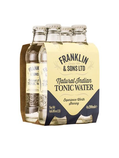 Franklin & Sons Natural Indian Tonic Water pack 4x 0,20 L - 1