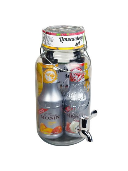 Set dispenser 4 L + 2x pyré MONIN 0,5 L - 1
