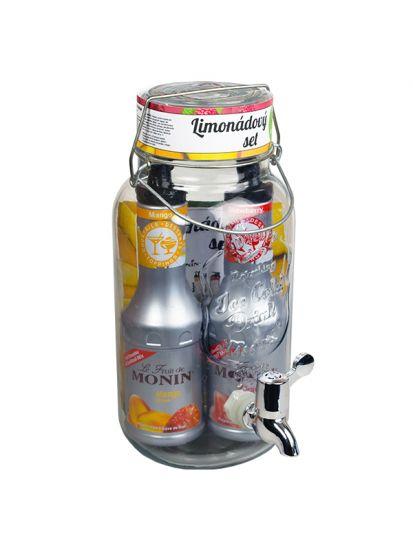 Set dispenser 4 L + 2x pyré MONIN 0,5 L - 1