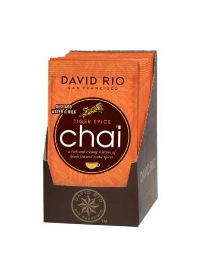 David Rio Tiger Spice Chai - sáčky display 12x28g + bateriový napěňovač mléka jako DÁREK - 2