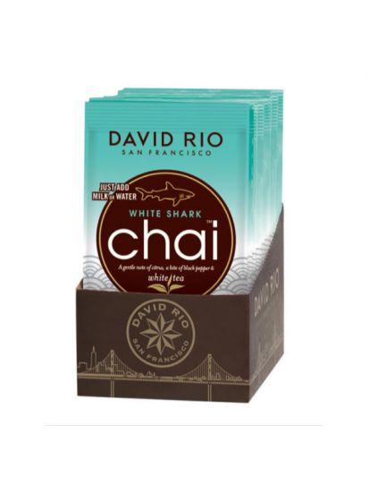 David Rio White Shark Chai - sáčky display 12x28g + bateriový napěňovač mléka jako DÁREK - 2